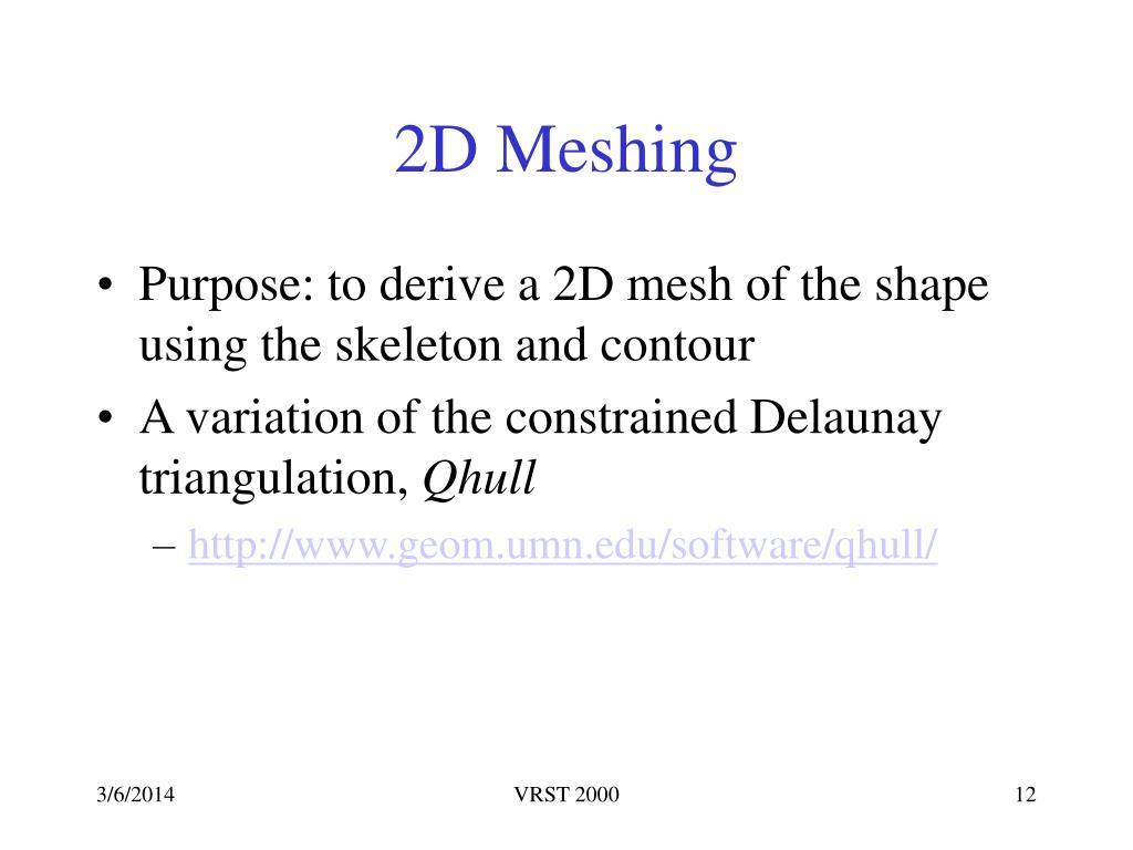 2D Meshing