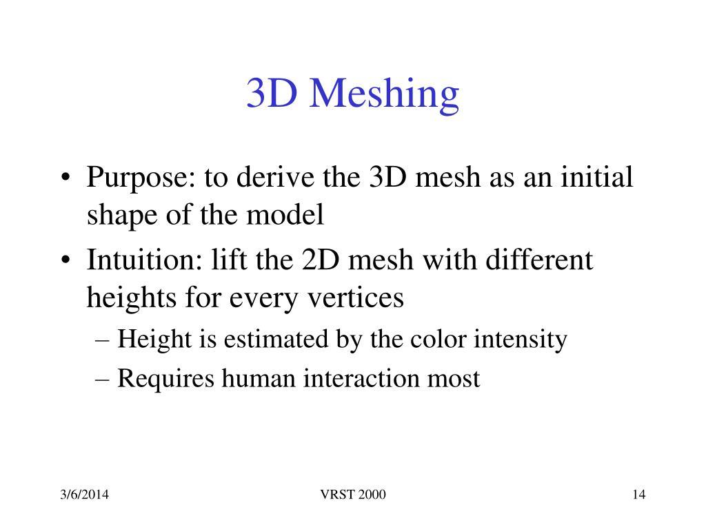 3D Meshing