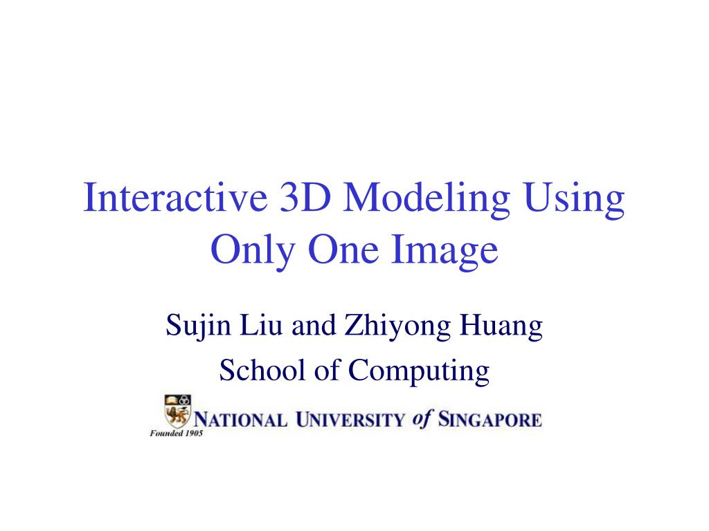 interactive 3d modeling using only one image l.