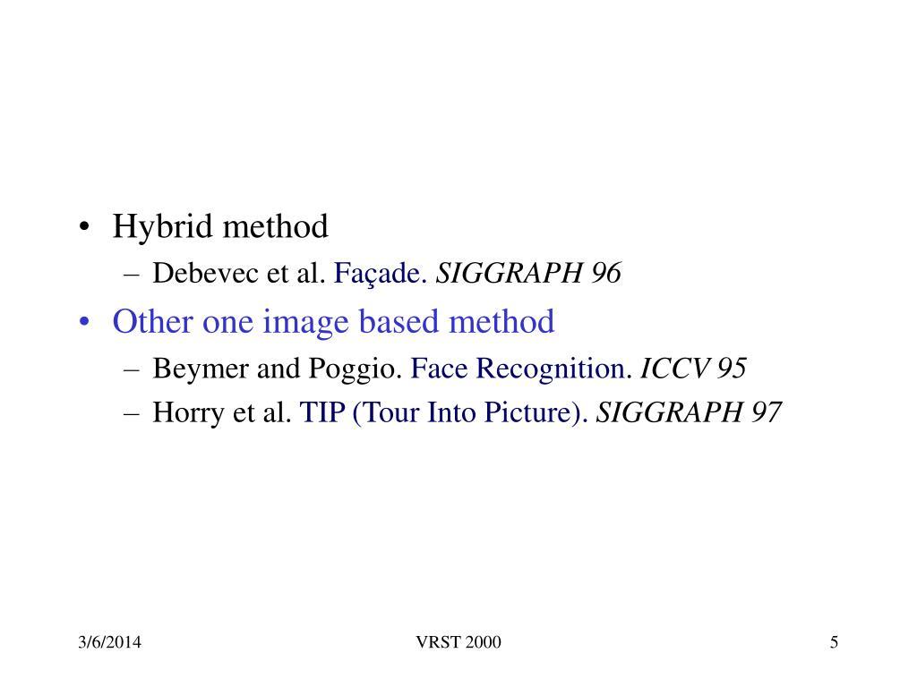 Hybrid method