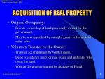 acquisition of real property