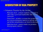 acquisition of real property9