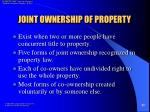 joint ownership of property