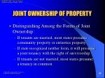 joint ownership of property32