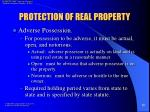 protection of real property17
