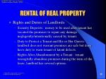 rental of real property24