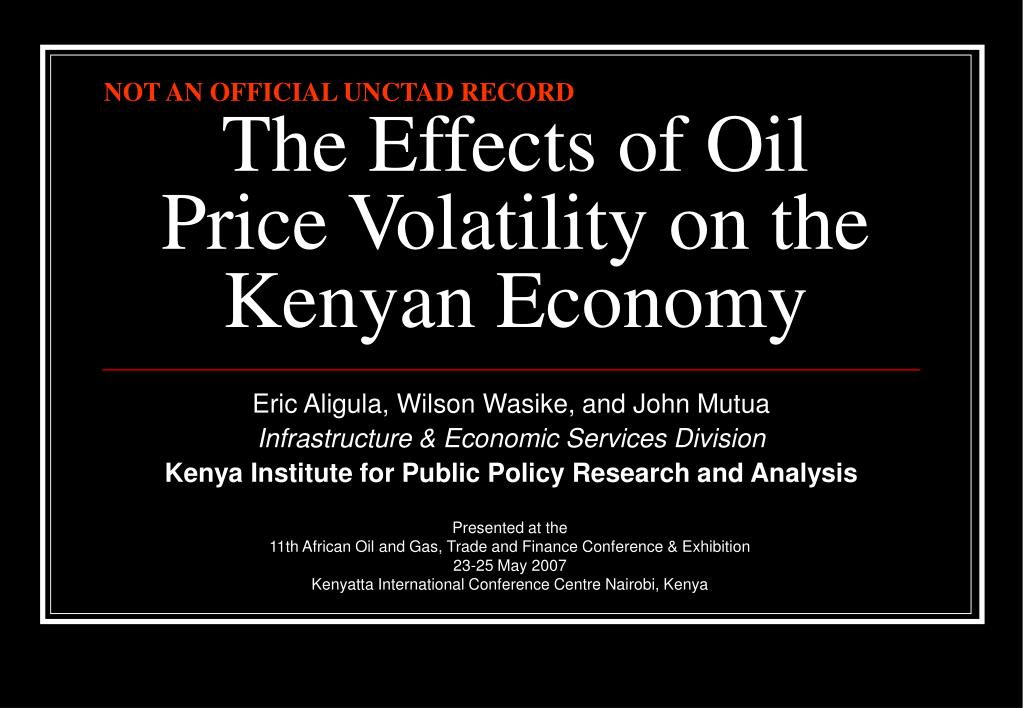 the effects of oil price volatility on the kenyan economy l.