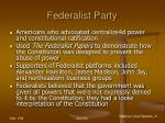 federalist party63