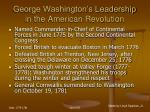 george washington s leadership in the american revolution37