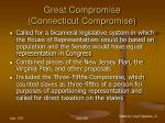 great compromise connecticut compromise61
