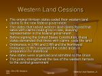 western land cessions45