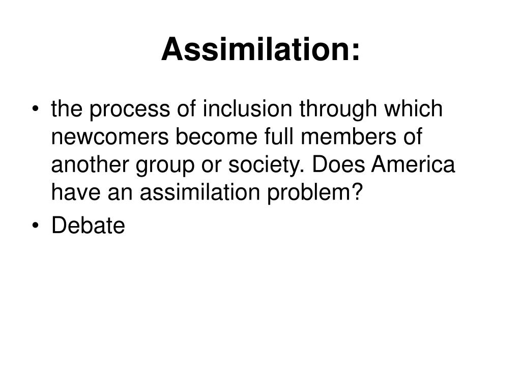 assimilation l.