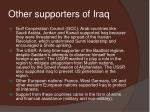 other supporters of iraq