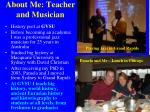 about me teacher and musician