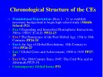 chronological structure of the ces