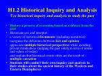 h1 2 historical inquiry and analysis use historical inquiry and analysis to study the past