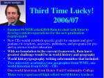 third time lucky 2006 07