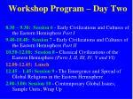 workshop program day two