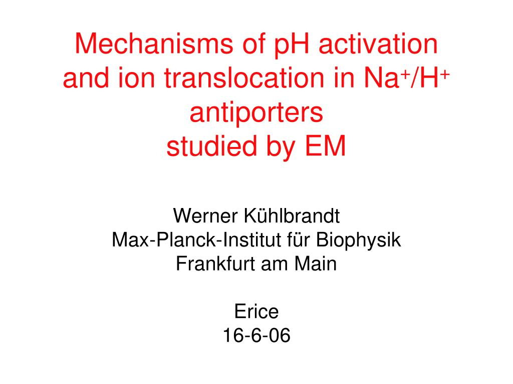 mechanisms of ph activation and ion translocation in na h antiporters studied by em l.