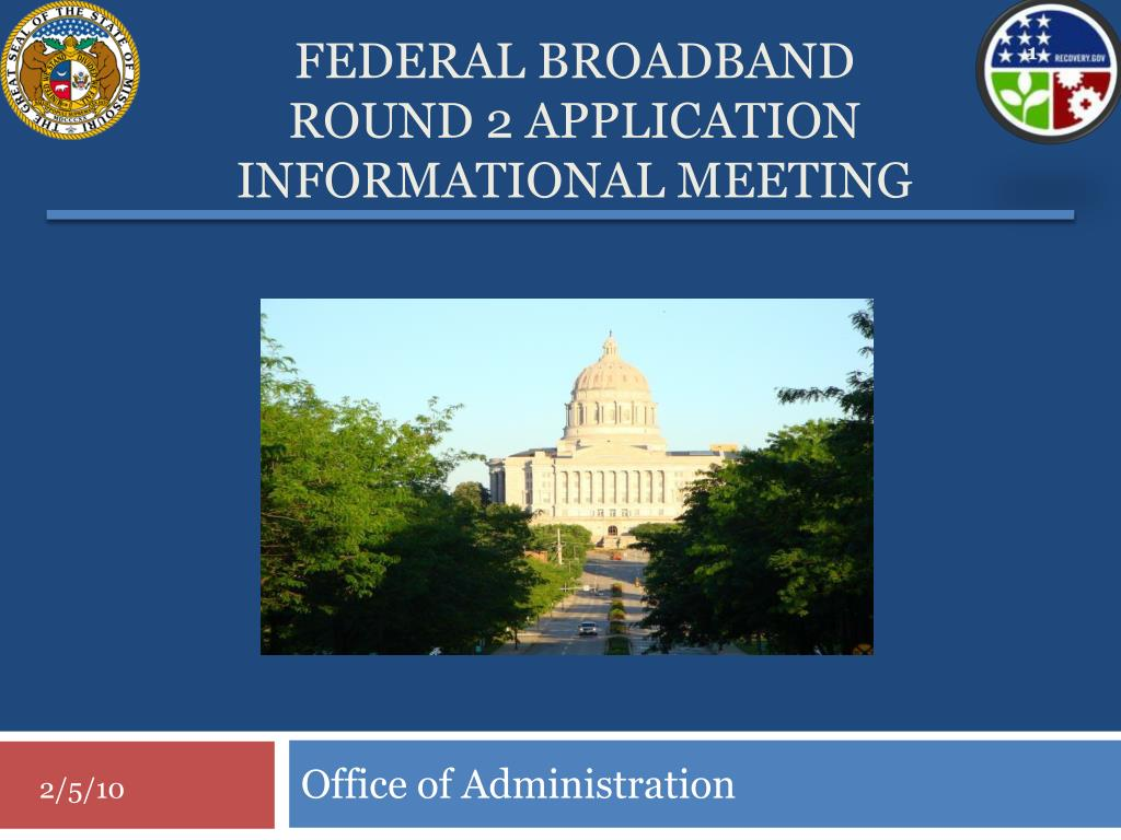 federal broadband round 2 application informational meeting l.