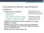 conceptual problems psychological evidence