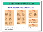 ti tms320c6000 instruction set
