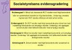 socialstyrelsens evidensgradering