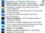 maritime or atlantic provinces