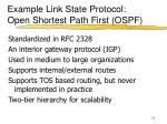example link state protocol open shortest path first ospf