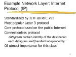 example network layer internet protocol ip