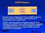 dhcp basics