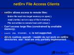 netdrv file access clients