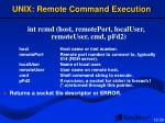 unix remote command execution