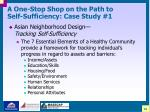 a one stop shop on the path to self sufficiency case study 120