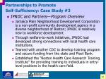 partnerships to promote self sufficiency case study 3