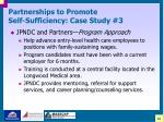 partnerships to promote self sufficiency case study 329