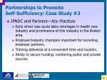 partnerships to promote self sufficiency case study 330