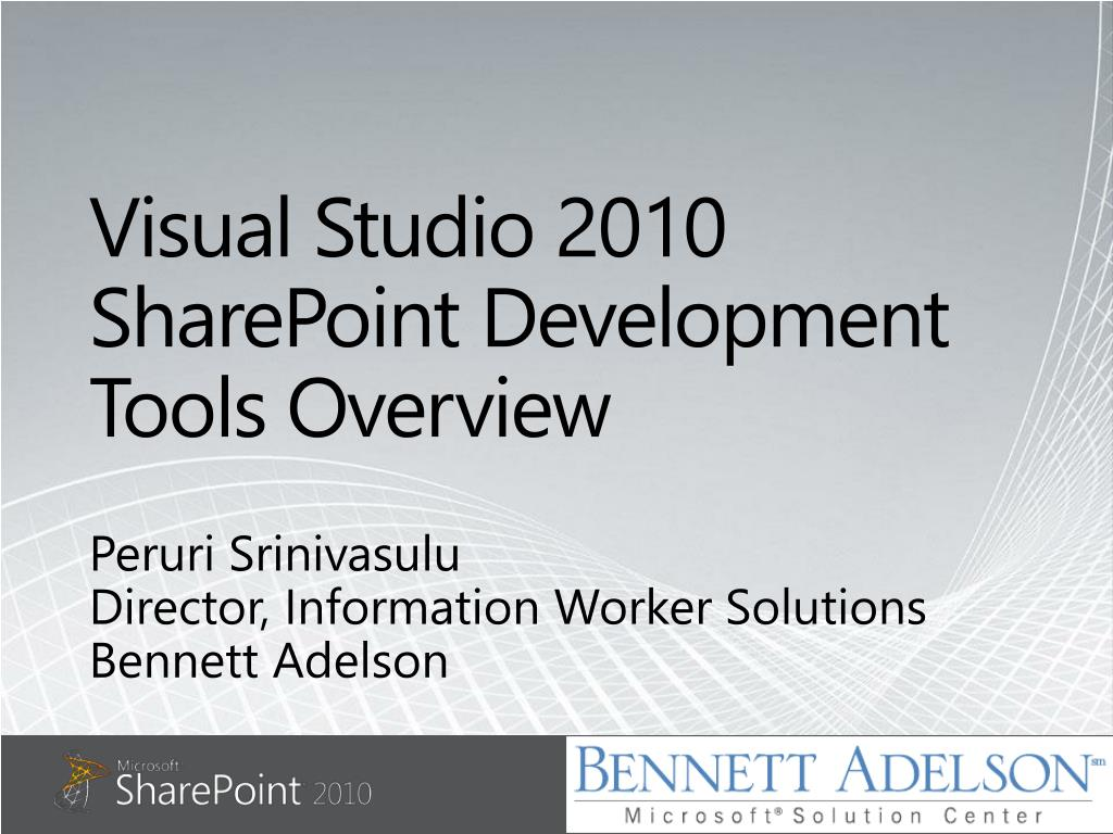 visual studio 2010 sharepoint development tools overview l.