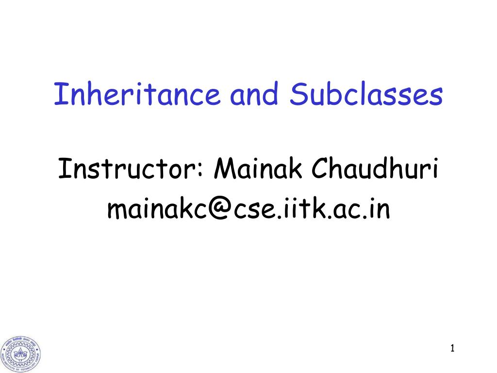 inheritance and subclasses l.