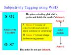 subjectivity tagging using wsd12