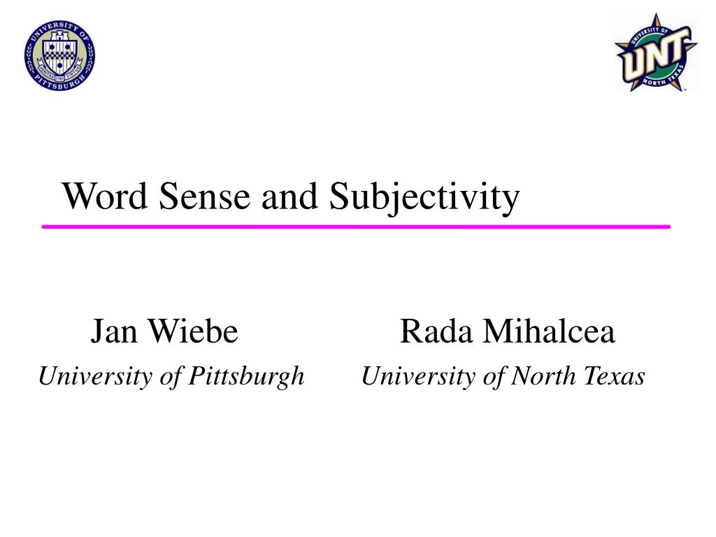 word sense and subjectivity l.