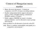 context of hungarian music market