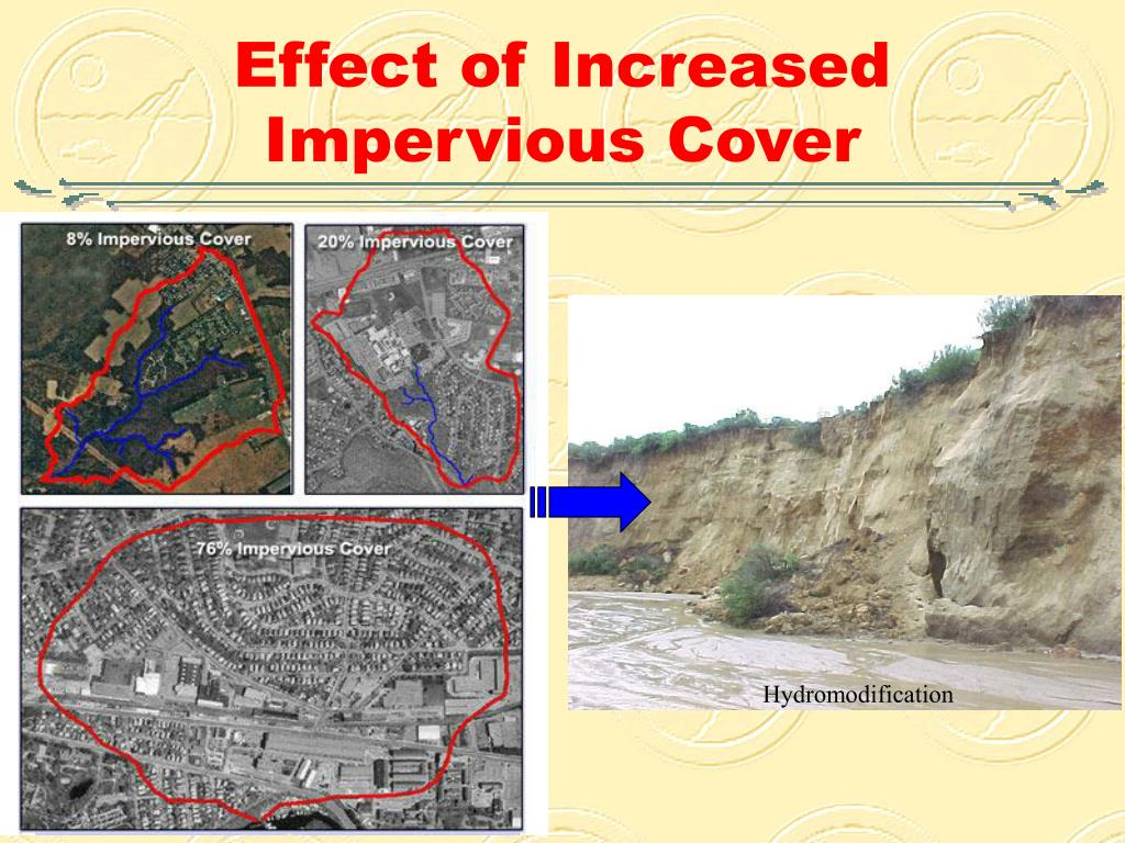 effect of increased impervious cover l.