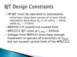 bjt design constraints