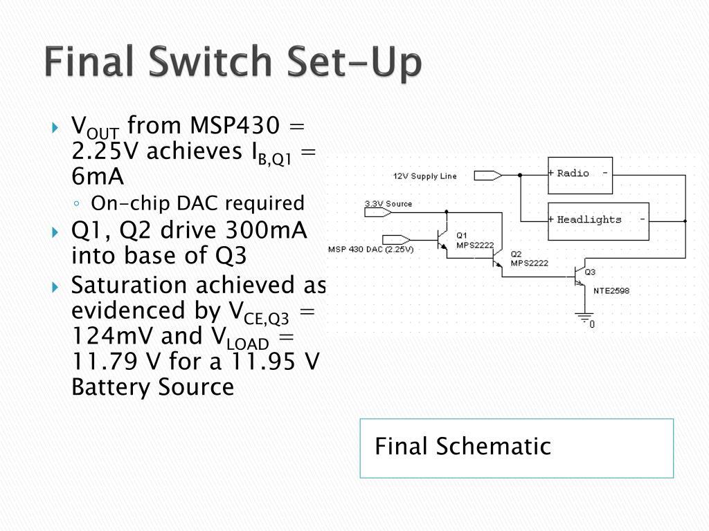 Final Switch Set-Up
