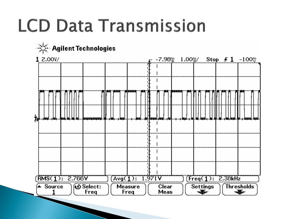 LCD Data Transmission