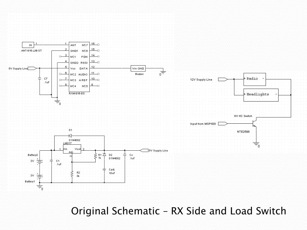 Original Schematic – RX Side and Load Switch