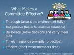 what makes a committee effective