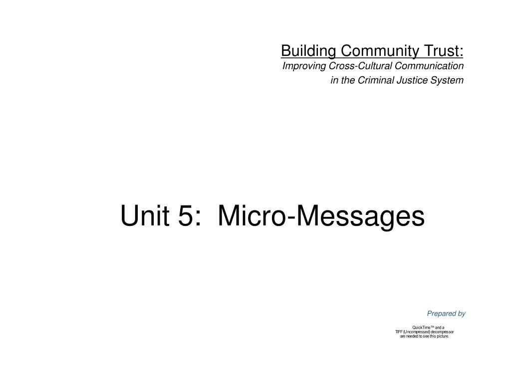 unit 5 micro messages l.