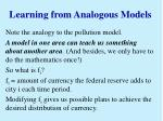 learning from analogous models